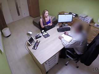 Hidden Cams LOAN4K. Upset girl pays with sex to become successful...