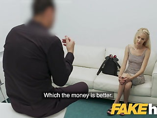 Interracial Fake Agent Big cock stretches tight Hungarian pussy
