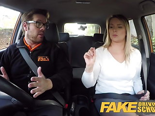 Car Fake Driving School Czech babe Nikky Dream orgasms