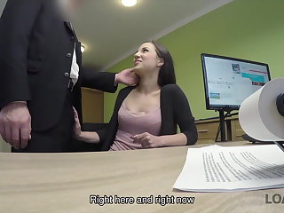 Agent LOAN4K. Young chick needs money badly so why satisfies loan