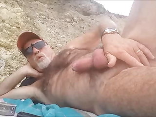 Beach Jus et uro sur la plage  du var