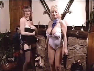 British Vintage British big bouncy tits dance-off