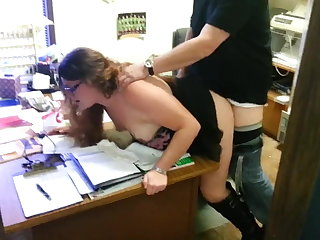 Female Choice wife in office with boss