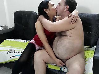 Hairy sissy boy with daddy
