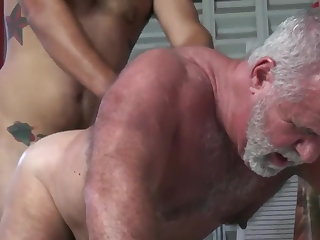 Silver Beard Daddy Gets Fucked Really Good