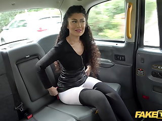 Slovakian Fake Taxi Indian Marina Maya big ass bounces on John's Cock