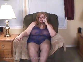 Lactating Curvy Sharon - Phone Sex With Your Mom's Best Friend