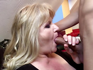 Danish Mature fat mom gets rough sex from son