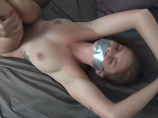 Bondage Taped her, fucked her