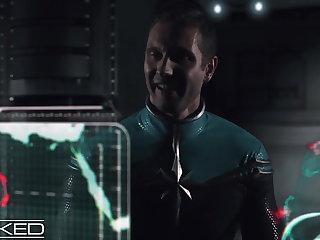 Alien Wicked - Captain Marvel Fucked By 2 Skrulls