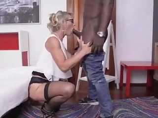 Retro Hot French MILF Gets Fucked By BIG BLACK COCK - BlackedPL