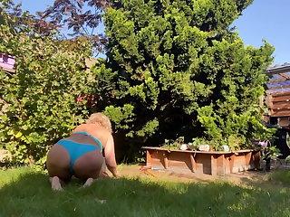 Bikini Carina. Again in the garden.