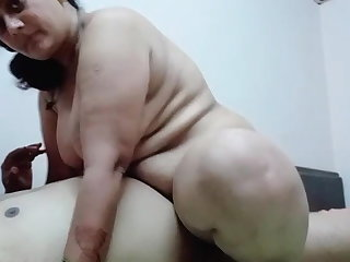 Lactating Mature Desi Aunty rides on my dick