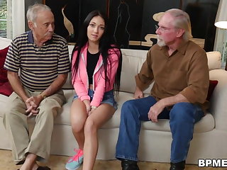 Hardcore Crystal Rae Fucks The Hell Out Of Old Man!